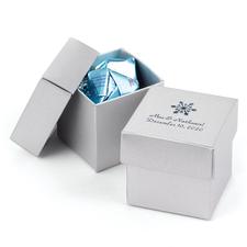 Silver anniversary favor boxes