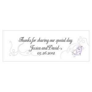 Heart Filigree Small Rectangular Tag lavendar